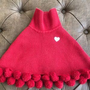 Adorable Gymboree red cotton poncho girls sz 5/6